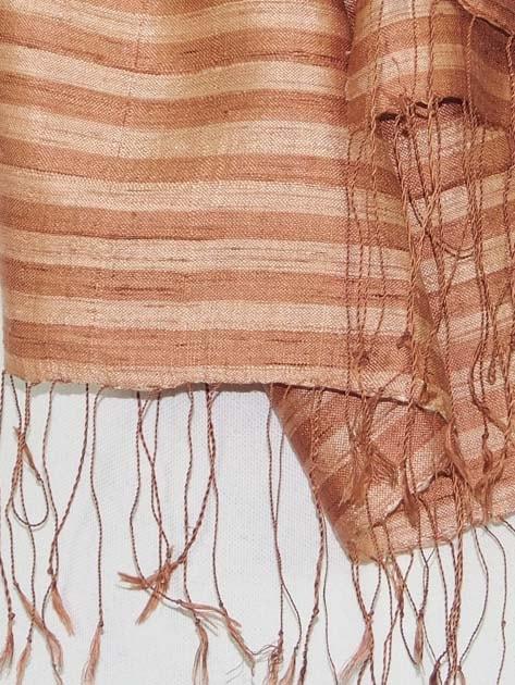 Echarpe en soie naturelle filée et tissée à la main par les artisanes des villages du Laos - artisanat authentique et équitable - code 201110-f2