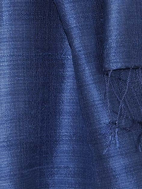 Echarpe en soie naturelle filée et tissée à la main par les artisanes des villages du Laos - artisanat authentique et équitable - code 201196-f3