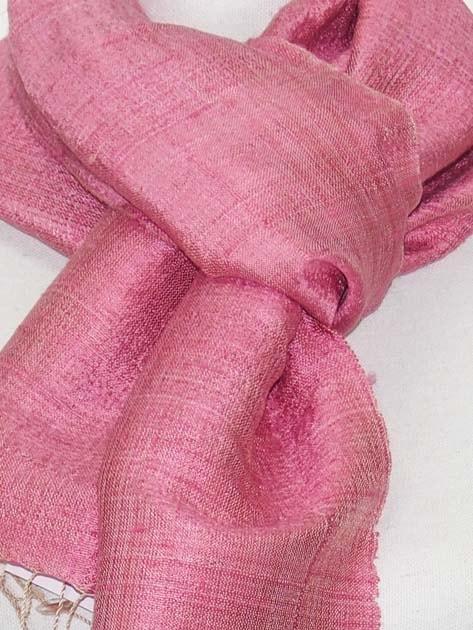 Echarpe en soie naturelle filée et tissée à la main par les artisanes des villages du Laos - artisanat authentique et équitable - code 201104-f3