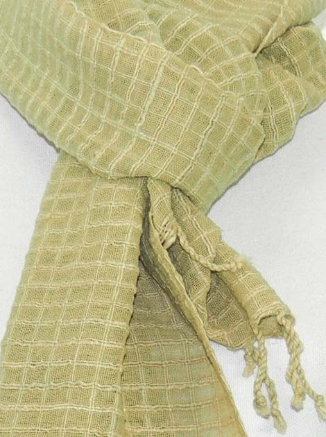 Echarpe en coton filée et tissée à la main par les artisanes des villages du Laos - artisanat authentique et équitable - code 201148-f1