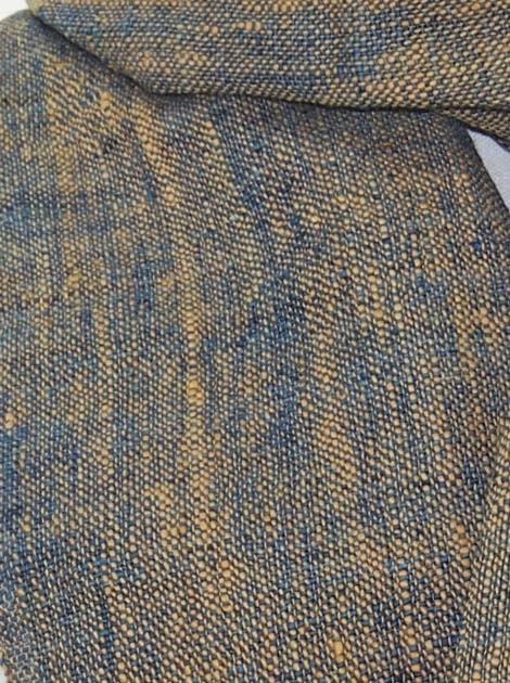 Echarpe en coton filée et tissée à la main par les artisanes des villages du Laos - artisanat authentique et équitable - code 201202-f1