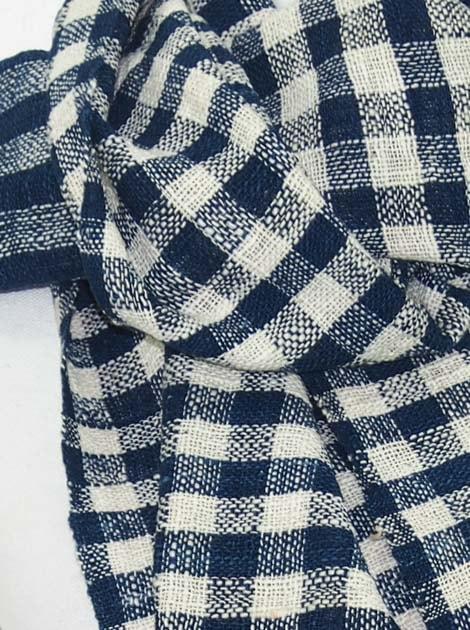 Echarpe en coton filée et tissée à la main par les artisanes des villages du Laos - artisanat authentique et équitable - code 201211-f1