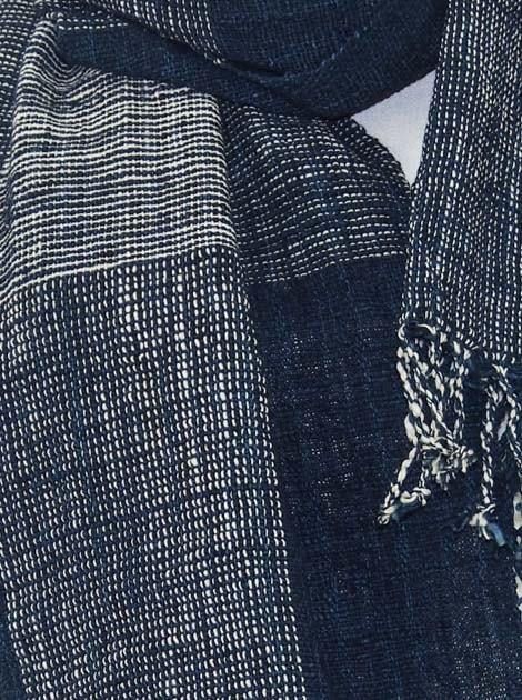 Echarpe en coton filée et tissée à la main par les artisanes des villages du Laos - artisanat authentique et équitable - code 201217-f1