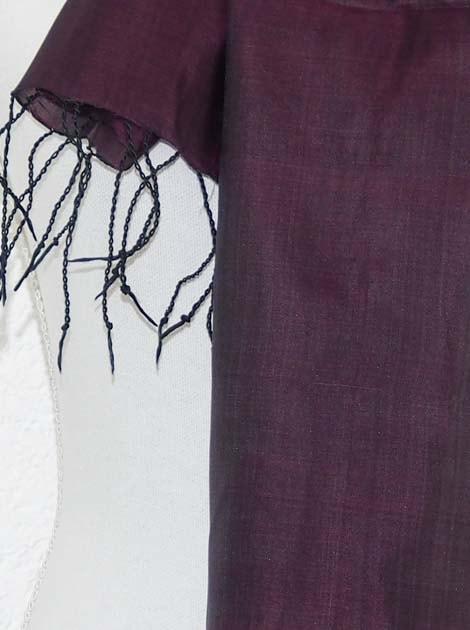 Echarpe en soie naturelle tissée à la main par les artisanes des villages du Cambodge - artisanat équitable - code 301113-f2