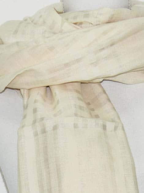 Echarpe en coton et soie tissée à la main par les artisanes des villages du Cambodge - artisanat équitable - code 301119-f1