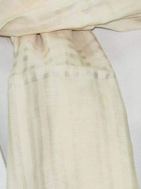 Echarpe en coton et soie tissée à la main par les artisanes des villages du Cambodge - artisanat équitable - code 301119-f2