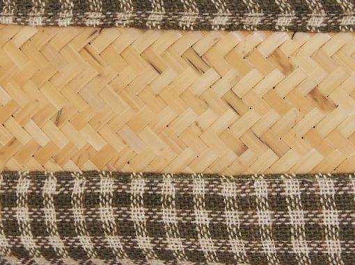 Panier en bambou et coton tressé à la main par les artisans des villages du Laos - commerce équitable - code 2011781-f3