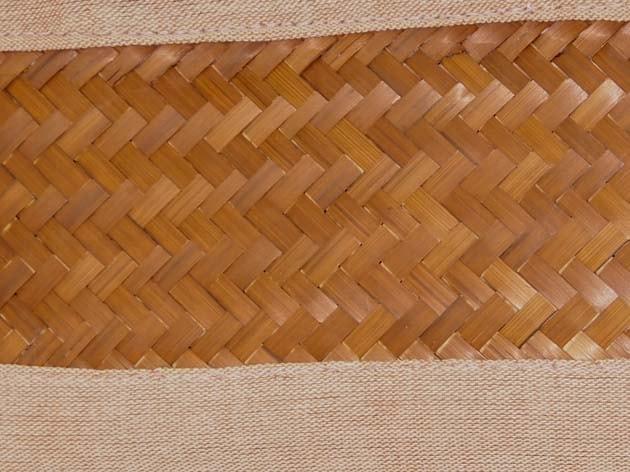 Panier en bambou et coton tressé à la main par les artisans des villages du Laos - commerce équitable - code 2011784-f3