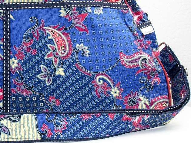 Sac en coton batik bleu cousu à la main par les artisanes des villages de la Thaïlande - artisanat équitable - code 102103B-f3