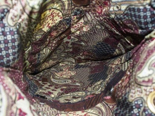 Sac en coton batik bordeau cousu à la main par les artisanes des villages de la Thaïlande - artisanat équitable - code 102108BO-f4