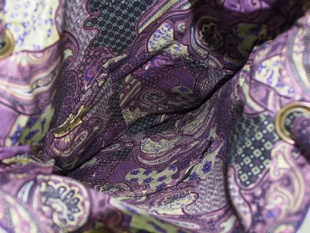 Sac en coton batik violet cousu à la main par les artisanes des villages de la Thaïlande - artisanat équitable - code 102108V-f4