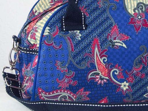 Sac en coton batik bleu cousu à la main par les artisanes des villages de la Thaïlande - artisanat équitable - code 102111B-f3