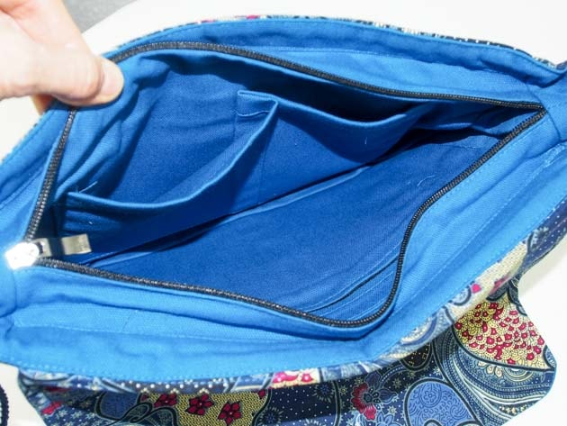 Sac en coton batik cousu à la main par les artisanes des villages de la Thaïlande - artisanat équitable - code B102102-f5