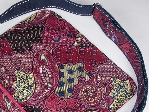 Sac en coton batik rose cousu à la main par les artisanes des villages de la Thaïlande - artisanat équitable - code 102102R-f3