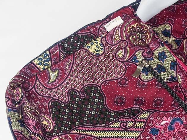 Sac en coton batik rose cousu à la main par les artisanes des villages de la Thaïlande - artisanat équitable - code 102102R-f4