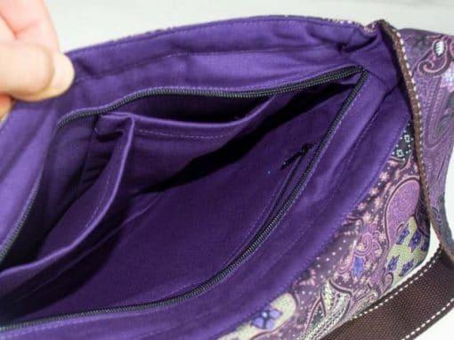 Sac en coton batik violet cousu à la main par les artisanes des villages de la Thaïlande - artisanat équitable - code 102102V-f5