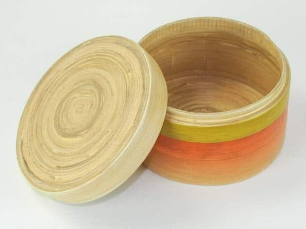 Boîte en bambou artisanat des villages du Vietnam - commerce équitable - code 401611-f3