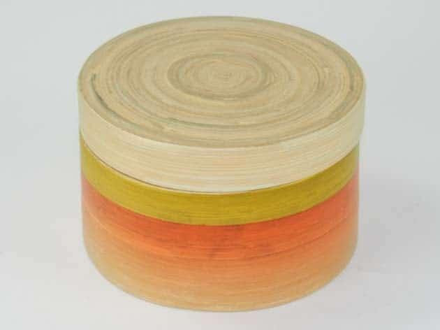 Boîte en bambou artisanat des villages du Vietnam - commerce équitable - code 401611