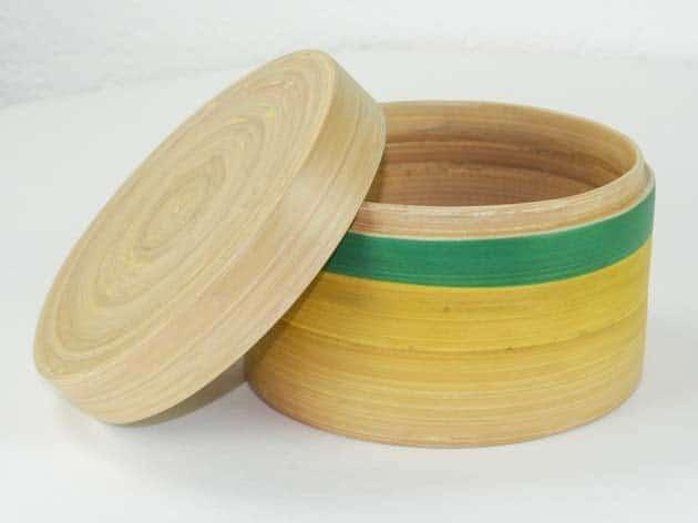 Boîte en bambou artisanat des villages du Vietnam - commerce équitable - code 401612-f2