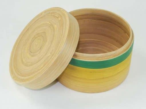 Boîte en bambou artisanat des villages du Vietnam - commerce équitable - code 401612-f3