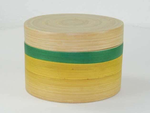 Boîte en bambou artisanat des villages du Vietnam - commerce équitable - code 401612