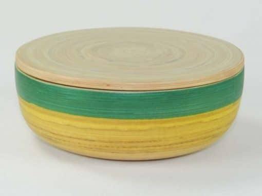 Boîte en bambou artisanat des villages du Vietnam - commerce équitable - code 401614
