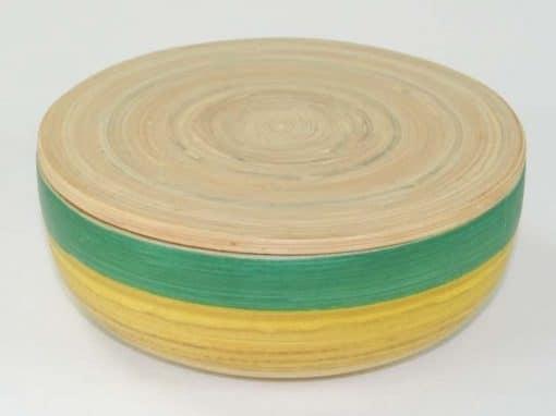 Boîte en bambou artisanat des villages du Vietnam - commerce équitable - code 401614-f2