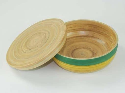 Boîte en bambou artisanat des villages du Vietnam - commerce équitable - code 401614-f3