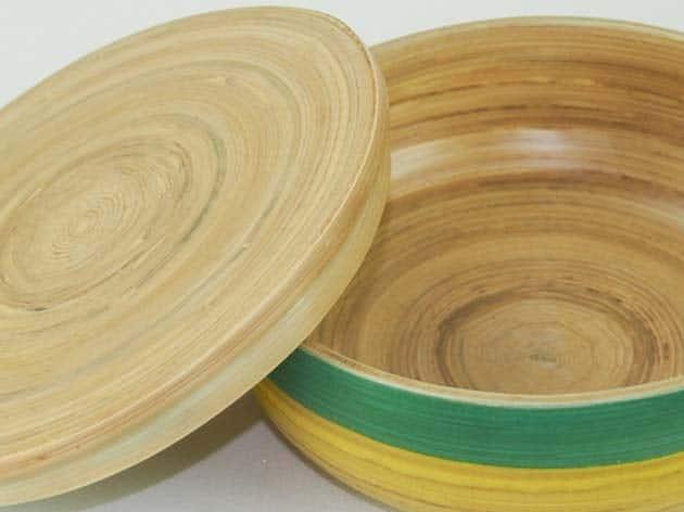 Boîte en bambou artisanat des villages du Vietnam - commerce équitable - code 401614-f4