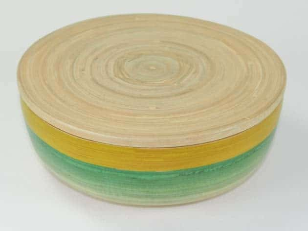 Boîte en bambou artisanat des villages du Vietnam - commerce équitable - code 401615-f2