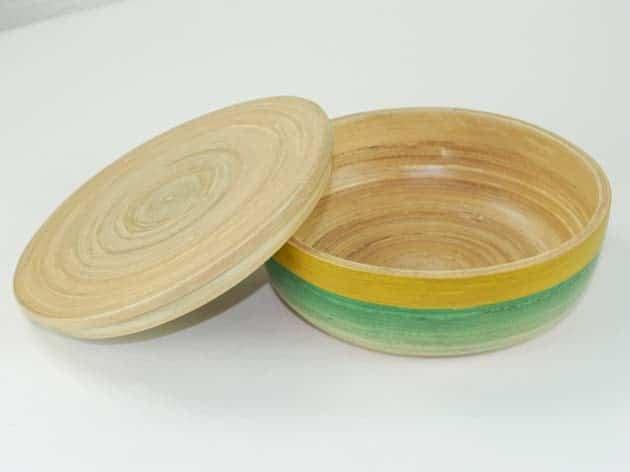 Boîte en bambou artisanat des villages du Vietnam - commerce équitable - code 401615-f3