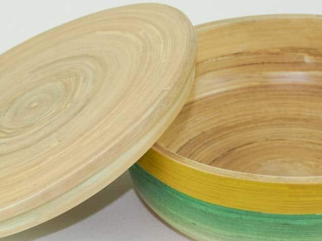 Boîte en bambou artisanat des villages du Vietnam - commerce équitable - code 401615-f4