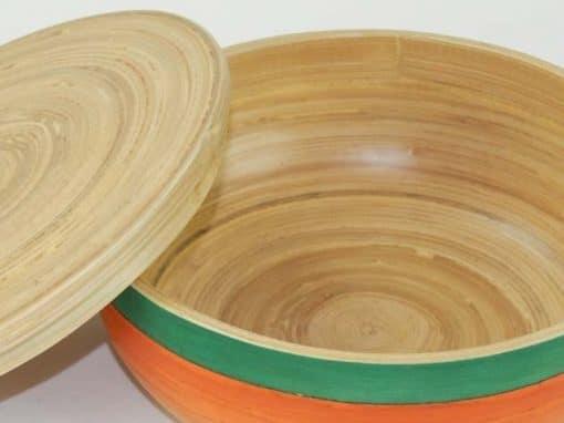 Boîte en bambou artisanat des villages du Vietnam - commerce équitable - code 401616-f4