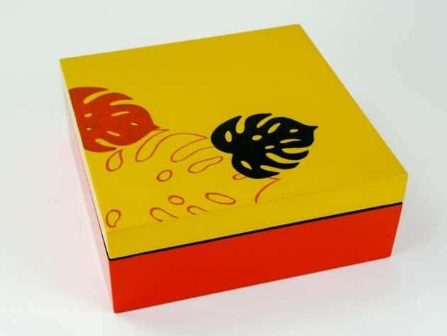 Boîte en bois laqué artisanat des villages du Vietnam - commerce équitable - code 4016180
