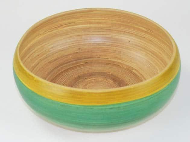 Plat en bambou artisanat des villages du Vietnam - commerce équitable - code 401617-f3