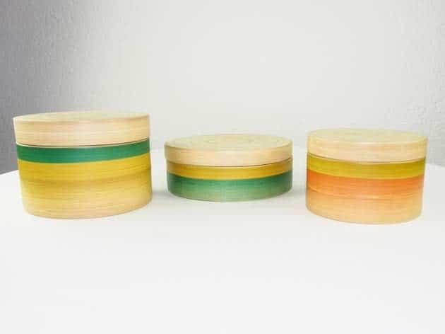 Boîtes en bambou artisanat des villages du Vietnam - commerce équitable - code 40161123