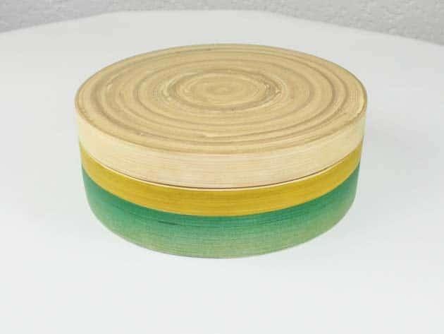Boîte en bambou artisanat des villages du Vietnam - commerce équitable - code 401613
