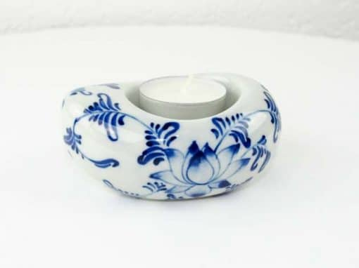 Bougeoir en céramique artisanat des villages du Vietnam - commerce équitable - code 4016172