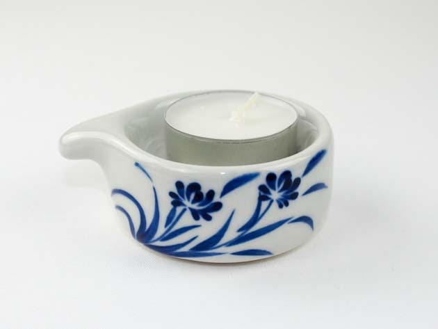 Bougeoir en céramique artisanat des villages du Vietnam - commerce équitable - code 4016173