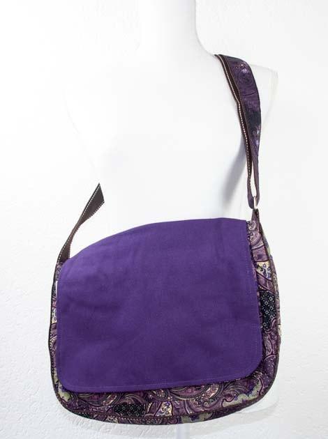 Sac en coton batik violet cousu à la main par les artisanes des villages de la Thaïlande - artisanat équitable - code 102102V-f6