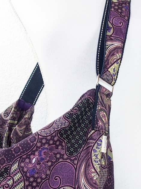 Sac en coton batik violet cousu à la main par les artisanes des villages de la Thaïlande - commerce équitable - code 102107V-f4