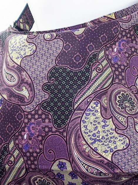 Sac en coton batik violet cousu à la main par les artisanes des villages de la Thaïlande - commerce équitable - code 102107V-f5