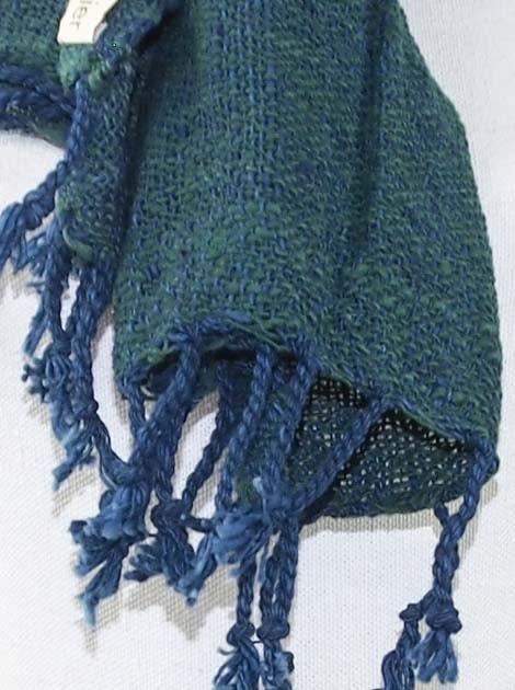 Echarpe en coton teinture naturelle filé et tissé à la main - artisanat cadeau équitable du Laos - code 2011717-f3
