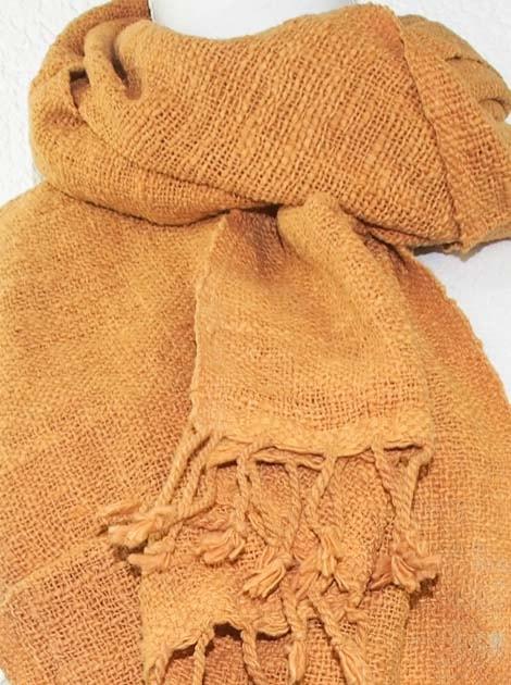 Echarpe en coton teinture naturelle filé et tissé à la main - artisanat cadeau équitable du Laos - code 2011722-f3