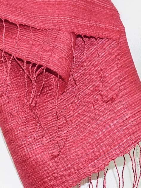 Echarpe, foulard en soie naturelle filée et tissée à la main - artisanat cadeau équitable du Laos - code 2011712-f3