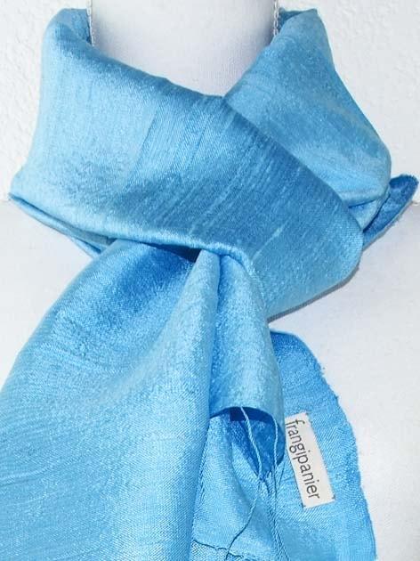 Echarpe, foulard en soie naturelle filée et tissée à la main - artisanat cadeau équitable du Laos - code 2011715-f2