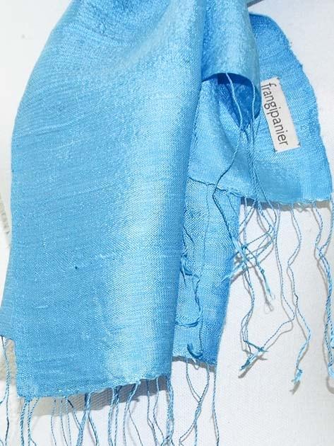 Echarpe, foulard en soie naturelle filée et tissée à la main - artisanat cadeau équitable du Laos - code 2011715-f3