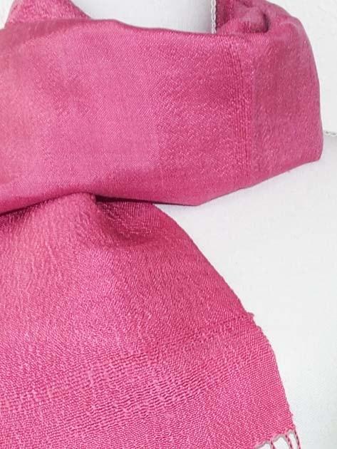 Echarpe, foulard en soie naturelle filée et tissée à la main - artisanat cadeau équitable du Laos - code 201173-f2