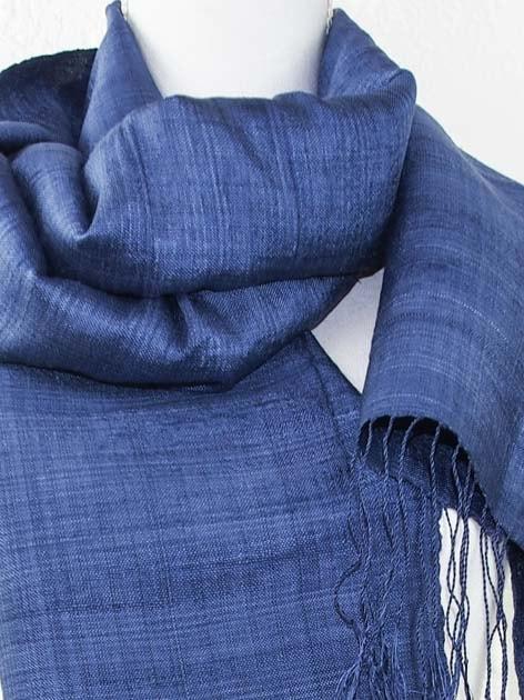 Echarpe, foulard en soie naturelle filée et tissée à la main - artisanat cadeau équitable du Laos - code 201179-f3