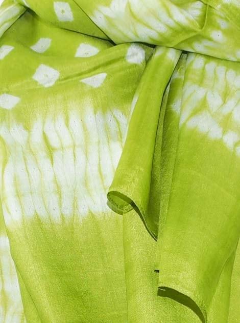 Foulard en soie naturelle tissé à la main - artisanat cadeau équitable du Cambodge - code 305102-f2